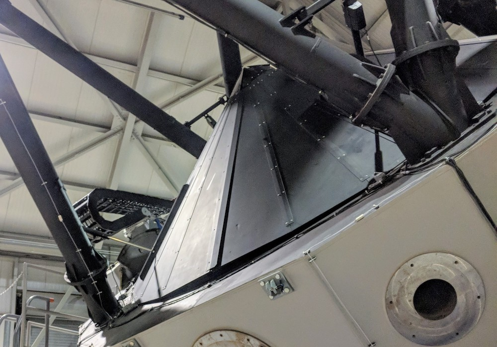 Close-up of the DCT telescope