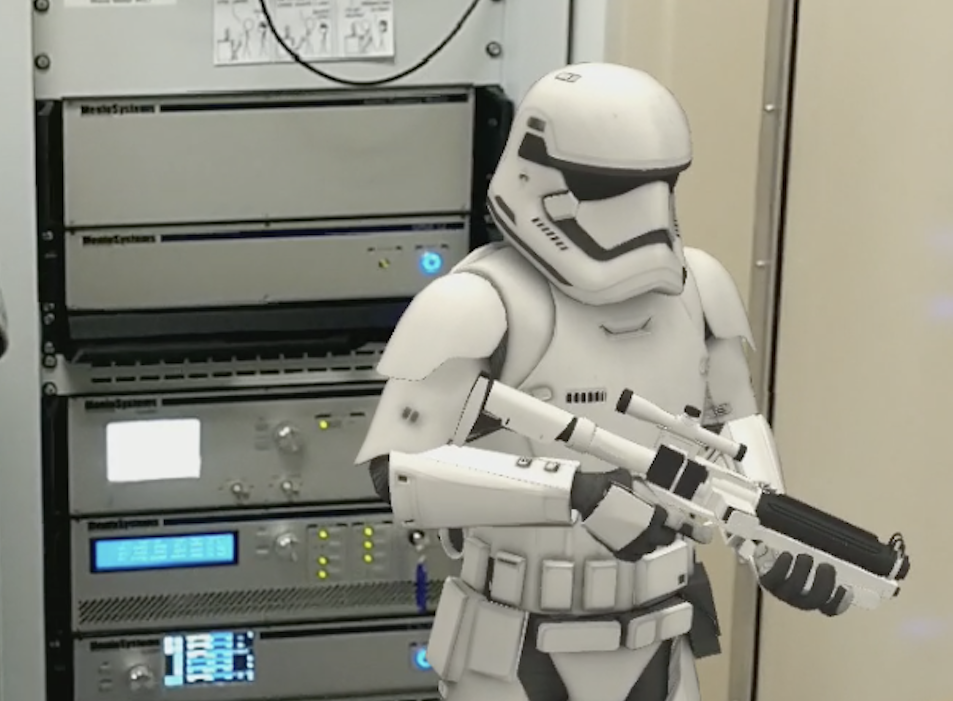 A Stormtrooper, guarding the laser frequency comb
